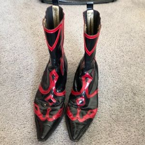 Black and red Dolce & Gabbana boots